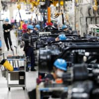 Machinery orders from the private sector fell 12.0 percent in April from the previous month to the lowest level in nearly 6 years, according to government data released Wednesday. | REUTERS