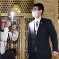 Former Justice Minister Katsuyuki Kawai is seen at the Diet in Tokyo last month.  | KYODO