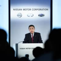 Hiroto Saikawa, former president and chief executive officer of Nissan Motor Co., speaks during a news conference at the company's headquarters in Yokohama in May 2019.  | BLOOMBERG