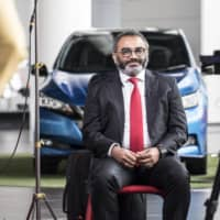 Ashwani Gupta, chief operating officer of Nissan Motor Co., sits for an interview at the company's headquarters in Yokohama in April.  | BLOOMBERG