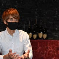 Ibuki, head of host club Cruise, says his establishment has been taking painstaking precautions against the virus since it reopened last month. | TOMOHIRO OSAKI