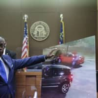 Fulton County District Attorney Paul L. Howard Jr. speaks at a news conference Wednesday in Atlanta. Howard announced former Atlanta police officer Garrett Rolfe faces charges including felony murder in the fatal shooting of Rayshard Brooks last week. | AP