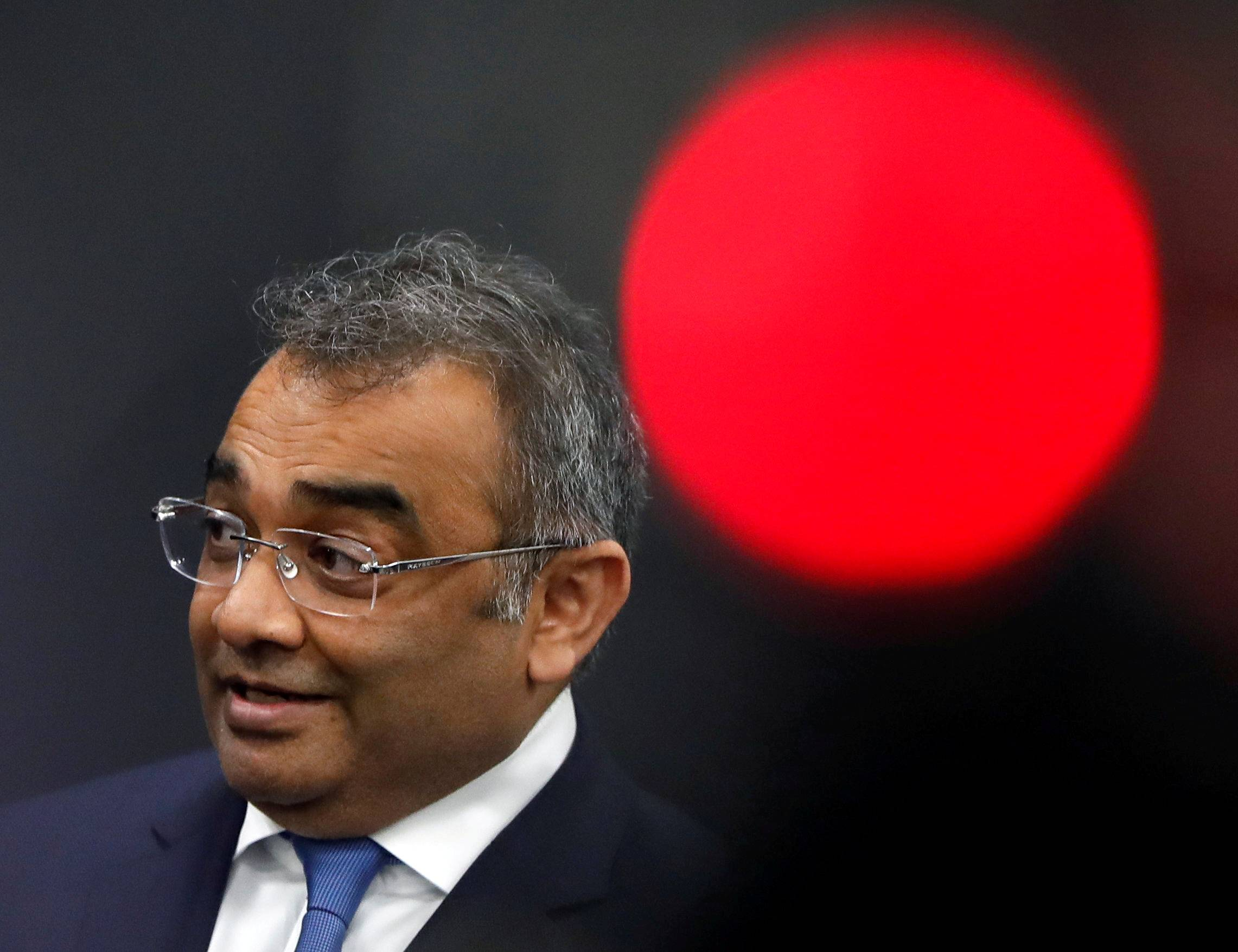 Ashwani Gupta, Nissan Motor's chief operating officer, attends a news conference in Tokyo last October. | REUTERS
