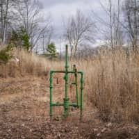 An abandoned natural gas well on the property of Hanson Rowe | REUTERS