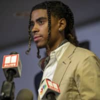 Messiah Young speaks at a news conference on June 2 about his confrontation with police officers.  | ATLANTA JOURNAL-CONSTITUTION / VIA AP