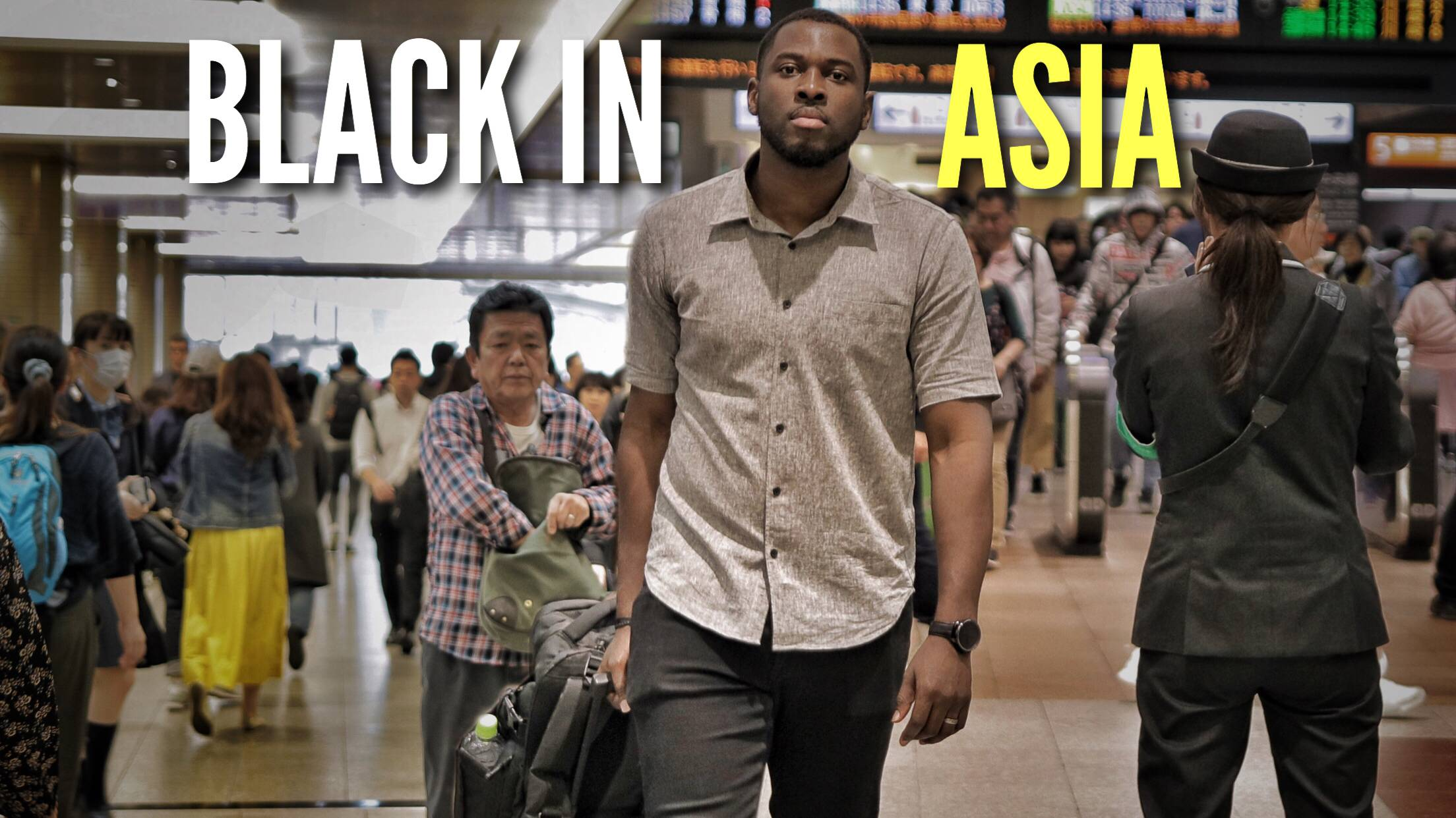 True tales: Videos on the YouTube channel The Black Experience Japan (pictured above) offer a journalistic approach to explore what it is like to live in Asia as a black person. |