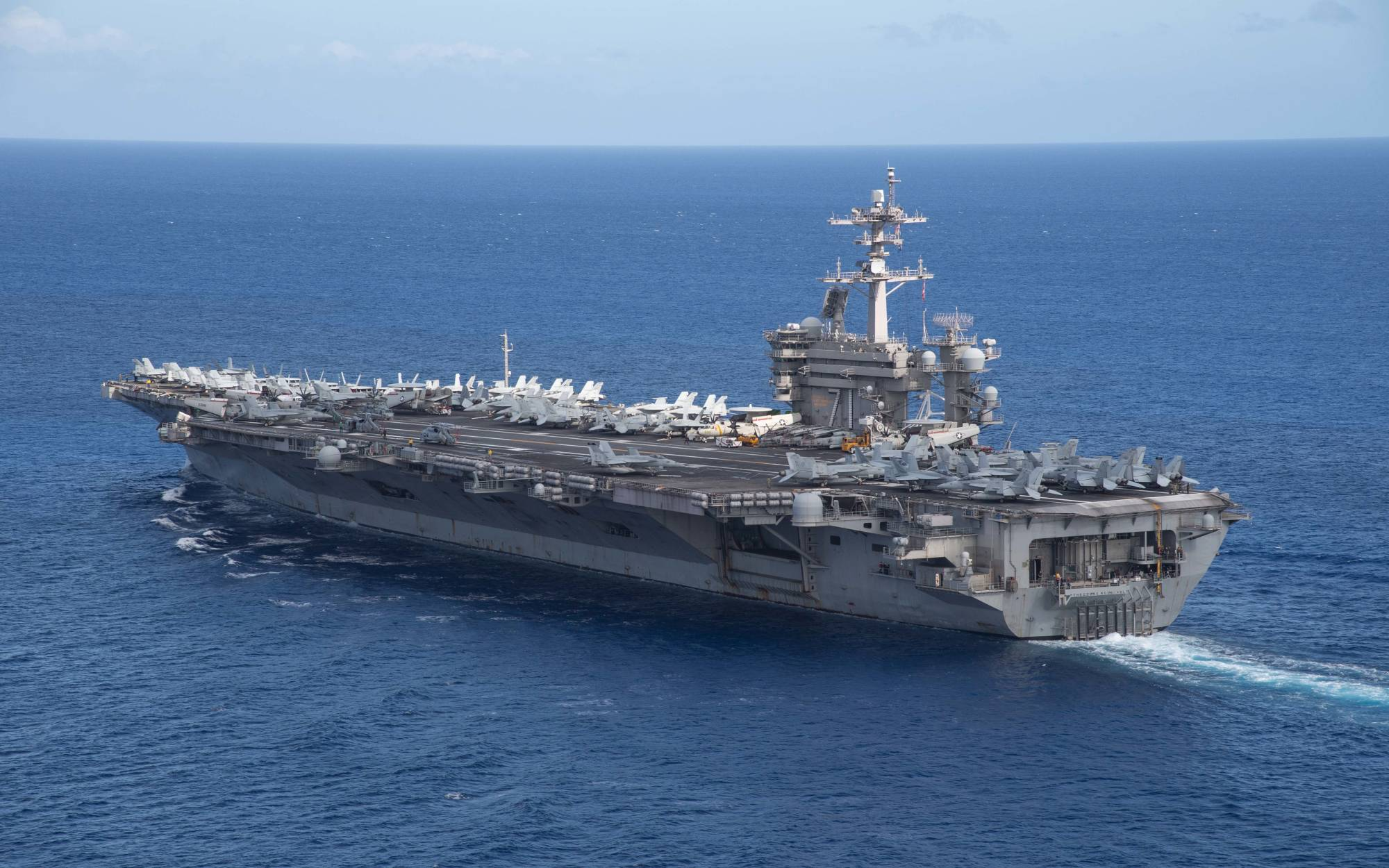 US Military News • Flight Operations Aboard the Aircraft Carrier USS Theodore Roosevelt • May 4 2021