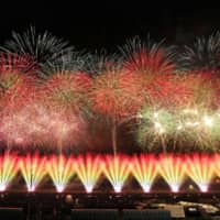 A national fireworks contest is held in Daisen, Akita Prefecture, with 27 fireworks makers from 12 prefectures taking part. | KYODO