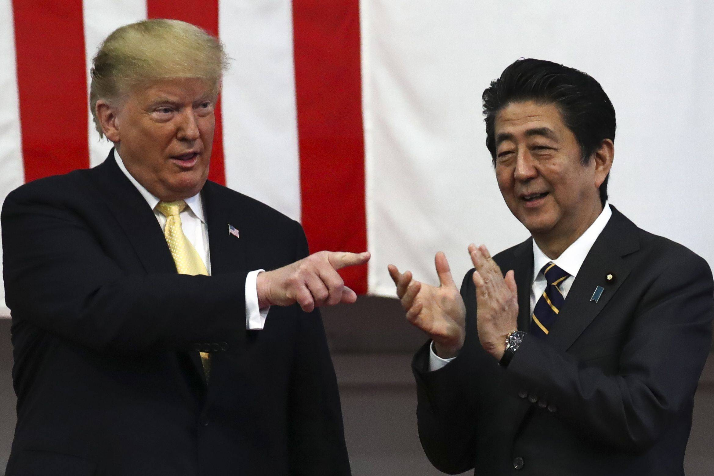 U.S. President Donald Trump's best personal relationship among world leaders was with Prime Minister Shinzo Abe, according to former top U.S. official John Bolton. | POOL / VIA BLOOMBERG
