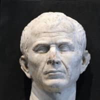 This bust of Julius Caesar was found at the bottom of the River Rhone in Arles, France, in 2008. | AFP-JIJI