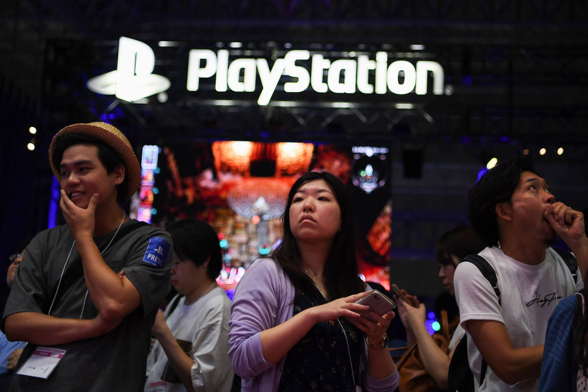 The exhibition floor during the Tokyo Game Show in Makuhari, Chiba Prefecture, on Sept. 12, 2019 | AFP-JIJI
