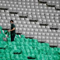 Okubo has returned to work with Tokyo Verdy, albeit in front of empty stands inside equally empty stadiums.   REUTERS