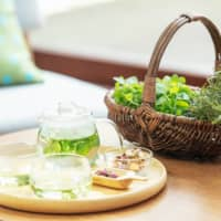 Steeped in calm: Adults (and children) can relax after a day of farming with a soothing pot of herb tea. | COURTESY OF HOSHINO RESORTS RISONARE NASU