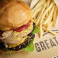 Better than meat: The vegan Superior Burger is made with Great Lakes' own vegan patty featuring a secret recipe combining shiitake, brown rice and onions. | COURTESY OF GREAT LAKES TOKYO