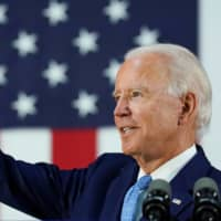 Democratic U.S. presidential candidate and former Vice President Joe Biden answers questions from reporters during a campaign event in Wilmington, Delaware, on Tuesday.    | REUTERS
