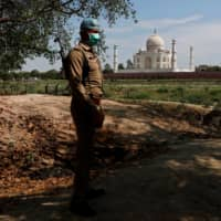 India's Taj Mahal will remain closed, it was announced Sunday, as the nation reported 25,000 cases and 613 deaths in 24 hours. | REUTERS
