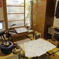 A re-creation of a room in the demolished Tokiwaso apartment building, which was home to cartoonists such as Osamu Tezuka and Shotaro Ishinomori, at the Tokiwaso Manga Museum | KYODO