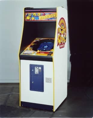 Namco sold more than 400,000 Pac-Man arcade cabinets worldwide by 1982. The game was originally called PuckMan, before its American distributor decided that such a name could be problematic. | PAC-MAN™ & © BANDAI NAMCO ENTERTAINMENT INC.