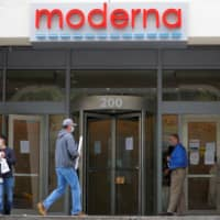 A sign marks the headquarters of Moderna Inc., in Cambridge, Massachusetts. As the United States accelerates the search for a coronavirus vaccine, tensions have erupted between government scientists and Moderna, one of the leading developers. | REUTERS