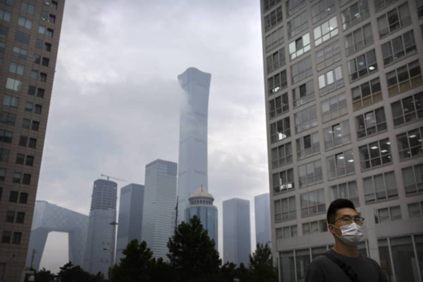 The central business district in Beijing. According to an estimate, Shanghai saw 27,000 deaths from Jan. 1 due to smog, more than the 22,000 in Beijing.   AP