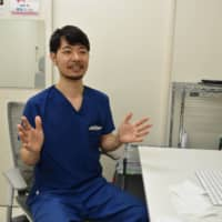 Kotaro Yoshitake says rising humidity and temperatures in Japan will give rise to more cases of skin troubles caused by masks.   KYODO