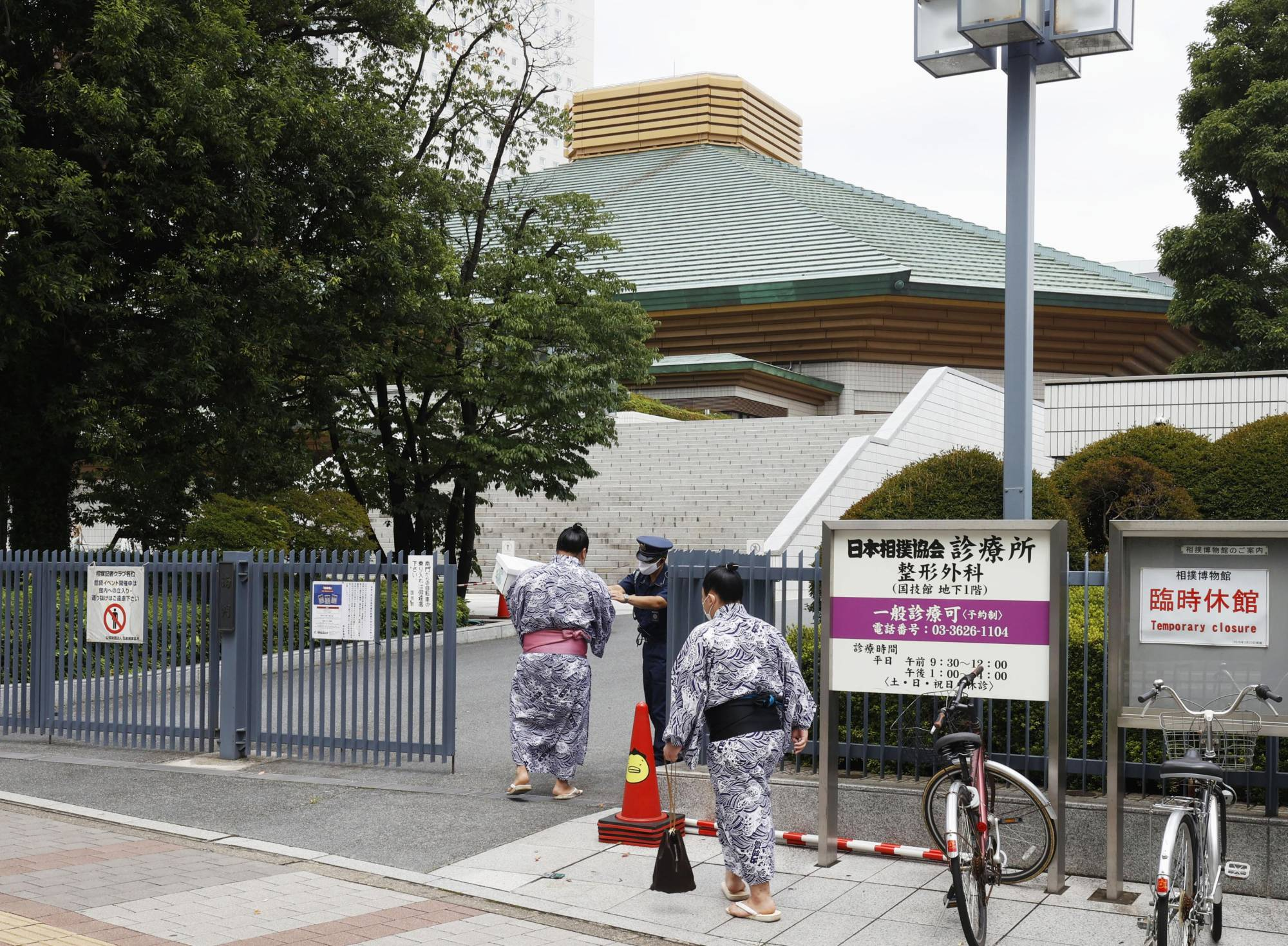 Sumo fans will be allowed to attend this month's grand tournament, which was relocated from Nagoya to Tokyo due to the coronavirus pandemic. | KYODO