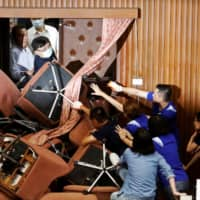 More fighting as Taiwan opposition again occupies parliament