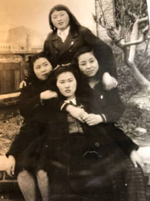 Michiko Yoshitsuka (right) was a 14-year-old schoolgirl working in a munitions factory when the atomic bomb exploded over Hiroshima. | COURTESY OF COLIN INNES