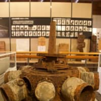 The engine from the ill-fated plane now lies inside Tenkawa Village Museum, after being recovered in 2007. | DAVID CAPRARA