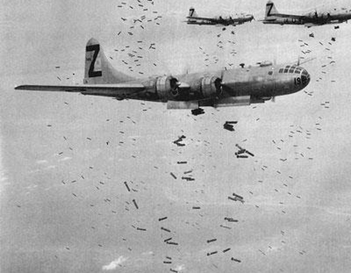 B-29 bombers often took off from bases in the Mariana Islands on missions to target key Japanese cities. | THE UNITED STATES ARMY AIR FORCES