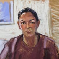 Ghislaine Maxwell appears via video link during her arraignment hearing, where she was denied bail over her role in aiding Jeffrey Epstein to recruit and eventually abuse minor girls, in Manhattan Federal Court in New York on Tuesday in this courtroom sketch. | REUTERS