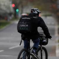 The union representing staff for Uber Technologies Inc.'s food delivery service said it found about 40 percent of workers involved in 31 accidents between January and March were forced to take leave of over one month due to their injuries. | REUTERS