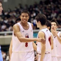 Rui Hachimura plays for Meisei High School at the 2015 Winter Cup national championship in Tokyo.   KAZ NAGATSUKA