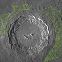 Craters are seen on the surface of the moon. | OSAKA UNIVERSITY / VIA KYODO