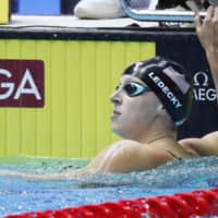 Olympic swimming star Katie Ledecky staying focused amid pandemic