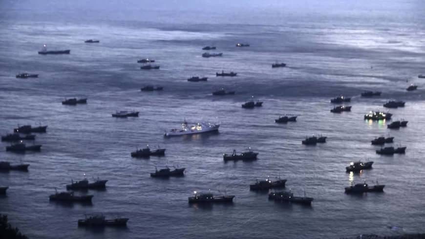 Over 800 Chinese vessels found fishing in North Korean waters last year