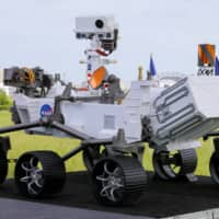 A replica of the Mars 2020 Perseverance Rover  | REUTERS