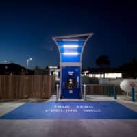 A hydrogen fueling pump at a TrueZero station in Mill Valley, California | BLOOMBERG