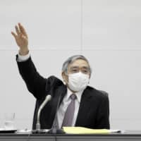 Bank of Japan Gov. Haruhiko Kuroda has warned that after an initial spurt the nation's economic recovery will slow.  | BLOOMBERG