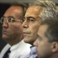 Jeffrey Epstein appears in court in West Palm Beach, Florida, in July 2008. | PALM BEACH POST / VIA AP
