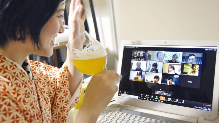 Many consumers have been catching up with friends in online drinking sessions at home since the pandemic struck.