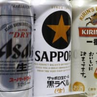 Revenue from beer and beer-like beverages by the big four brewers — Asahi, Kirin, Suntory and Sapporo — all fell in the first half from a year earlier. | KYODO