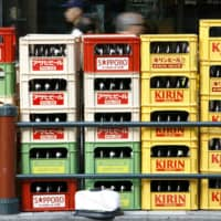 Alcohol delivery services such as Kakuyasu have seen orders from bars and restaurants drop significantly in recent months, while household sales have soared.  | REUTERS