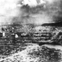 The atomic bombing of Hiroshima destroyed about 12 square kilometers of the city, accounting for roughly 70 percent of all buildings in the area. | KYODO