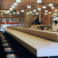 Empty chairs: Non-Japanese clientele used to make up half of Tonkatsu Tonki's customers on a busy day. Now, that revenue stream has dried up. | DAN BUYANOVSKY