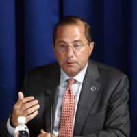 U.S. Health and Human Services Secretary Alex Azar is scheduled to arrive in Taiwan 'in the coming days' to discuss the global response to the COVID-19 pandemic and give supplies of medical equipment and technology.  | AP