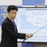 Yasutoshi Nishimura, minister in charge of COVID-19 response, has held daily press briefings, including on weekends and holidays. | KYODO
