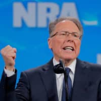 Wayne LaPierre, executive vice president and CEO of the National Rifle Association, speaks at the NRA annual meeting in Indianapolis on April 26, 2019.     | REUTERS