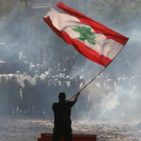 Electric night of protests in Lebanon amid anger over blast