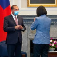 Xi or Tsai? Taiwan opposition jumps on visiting U.S. envoy's 'vocal slip'